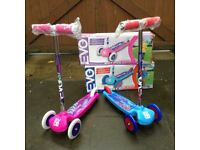 Boys and girls three wheel scooters new in box £10 each