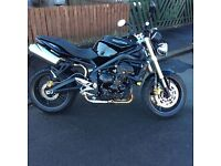 Triumph street triple 2010 full service history.mot August 2017. Never been dropped.looked after.