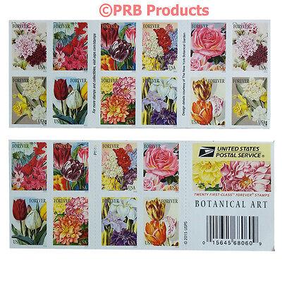 USPS BOTANICAL ART BOOK OF 20 FOREVER POSTAGE STAMP FLOWER GARDEN BLOSSOM SPRING