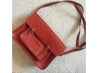 Deep red Cambridge Satchel Co. satchel
