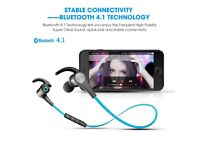 SoundPEATS Q12 Wireless Bluetooth Earphones with Magnetic Earbuds & Mic BLUE
