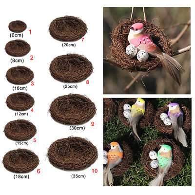 Miniature Natural Bird Nests (DIY Natural Vine Bird Nest Doll House Miniatures Garden Pet Animal Toys)