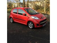 Peugeot 107 Verve '10 plate ideal first car cheap tax damaged spares or repair project