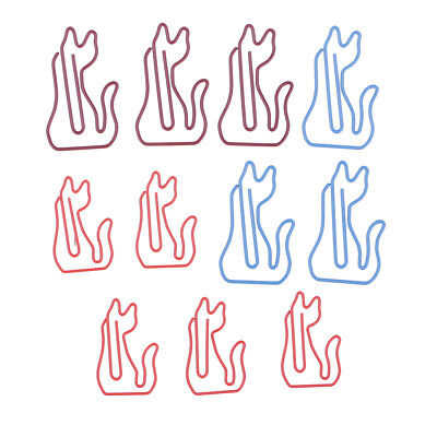 10pc Metal Cute Cat Shape Paper Clips Bookmarks For School Office Stationery