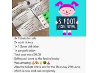 3Foot People Festival Tickets For Sale