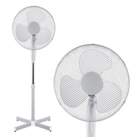 "16"" Inch Cooling Pedestal Oscillating Fan Extendable Free Standing Tower 3 Speed _ Brand New"