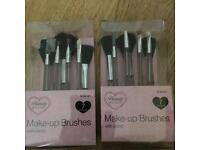 2 sets of 7 pack make-up brushes with stand Giftbox -Boxed and new-
