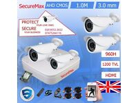 4 x HD Camera Kit DVR Recorder with 1Mega Pixel 720P Bullet Security Cameras