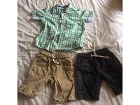 Next shorts age 2-3 mini club shirt 3-4