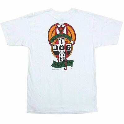 Dogtown Jim Muir RED DOG LOGO Skateboard T Shirt WHITE MEDIUM