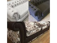 chesterfield sofa now available on show from £499