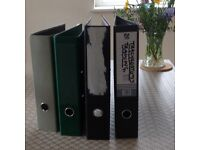 Lever arch files, been used but in very good condition , can be easily relabelled.