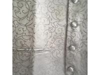 2 silver grey waistcoats brand new