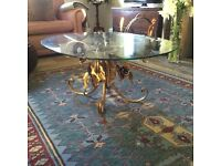 1930's coffee table, French. Original glass