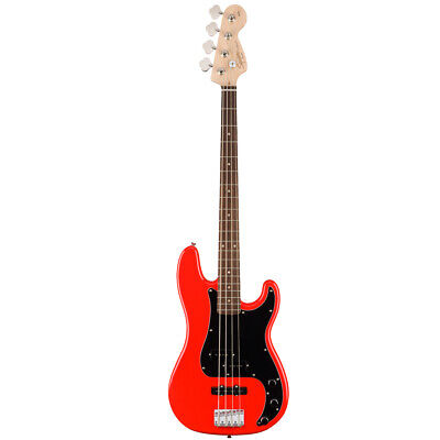 Squier Affinity Precision / Jazz PJ Electric 4 String Bass Guitar - Race Red