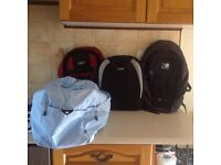 Karrimor back pack, 2 other back packs and sports bag