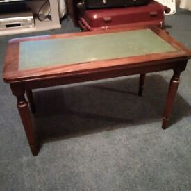 small occasional leather top table in very good condition