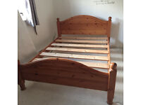 Standard Pine Double Bed 4ft 6""