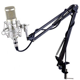 Mugig Condenser Microphone, Professional Broadcasting Recording Microphone Kit Adjustable Microphone