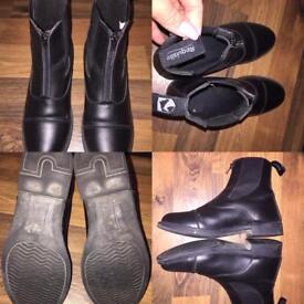 Requisite ladies black riding boots size 8