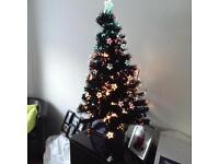 4ft black fibre optic Xmas tree