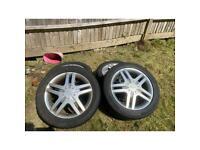 16 Inch FORD alloys with Bridgestone tires