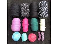 TEXTILE T SHIRT CHUNKY YARN 3KG JOB LOT BUNDLE INCL HOOOKED ZPAGETTI & BOODLES