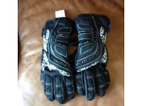 Richa Ladies Elegance Motorbike Motorcycle Gloves - Black / Grey - Size Small