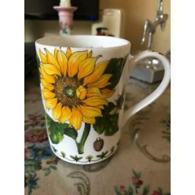 Fine bone china mug sunfkowers
