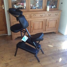 Massage therapy chair. Portable.