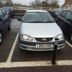 2003 Toyota Avensis 85,000 Genuine mileage, Second owner car