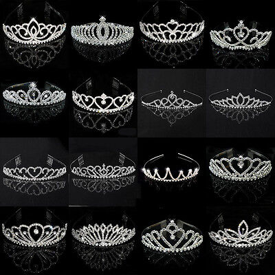 Wedding Bridal Children Kid Women Pageant Birthday Tiara Crown Princess Headband - Tiara Birthday