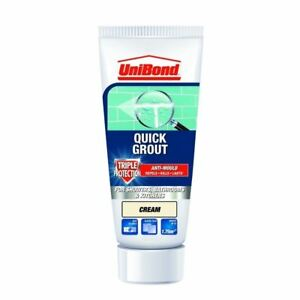 UniBond Kitchen Bathroom Triple Protect Anti-Mould Wall Tile Grout Tube - Cream