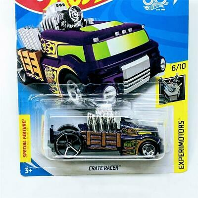 2018 Hot Wheels Experimotors 6/10 Crate Racer Purple OH5 5Sp Treasure Hunt TH