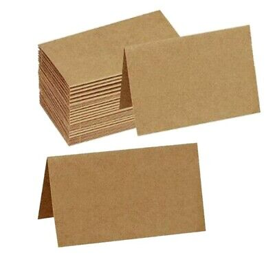 Wedding Name Cards (Brown Kraft Table Place Name Cards, Wedding Place Card Blanks, clamp card)