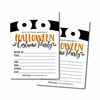 25 Mummy Halloween Party Invitation Cards for Kids Adults, Vintage Birthday... - Halloween Invitations For Kids