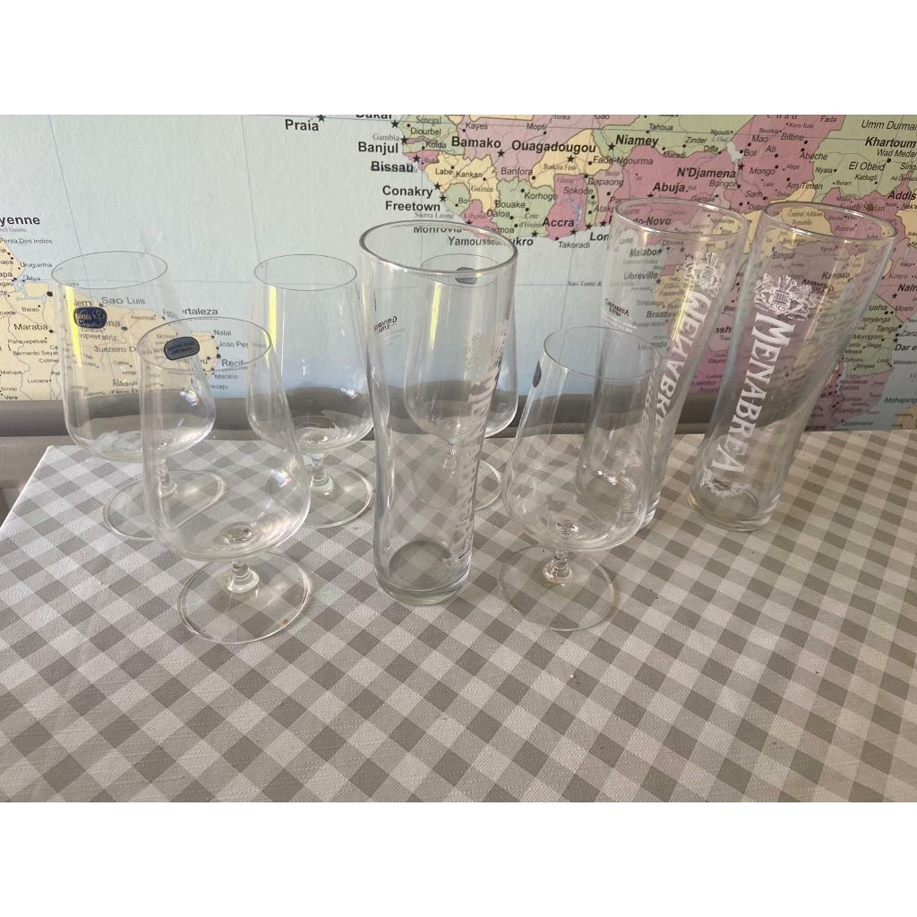 Selection of beer glasses