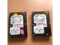 western digital hard drive 250 gb
