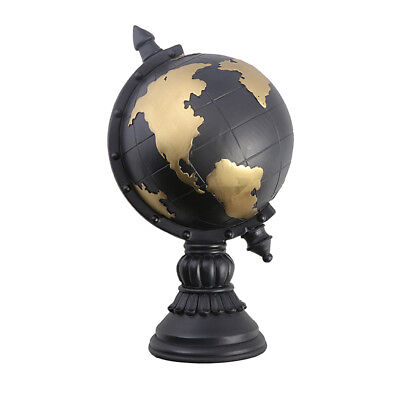 Vintage World Globe Map Earth Atlas Geography Home Office Table Decor Black