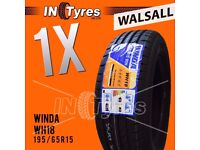 1x New 195/65R15 BUDGET Tyre 195 65 15 Tyres Fitting Available x1