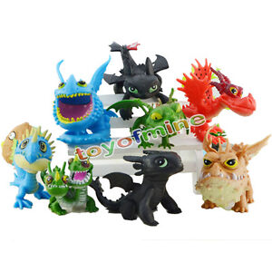 8x How to Train Your Dragon Toothless Figure set Collection Loose Pack