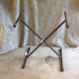 Key Board Stand - adjustable Height, Portable as Folds Flat