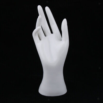 Female Mannequin Hand Jewelry Ring Bracelet Display Holder Stand 8.5 White