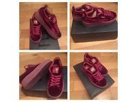 Fenty Creepers Rihanna Velvet Suede Trainers Sneakers Shoes Footwear Girls Female Women Size 4, 5, 6