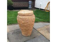 Wicker laundry basket, £7