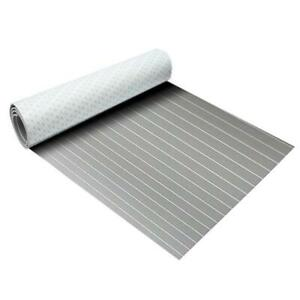 light Gray & white Marine Flooring Faux Teak EVA Foam Boat Decking Sheet 94.5x35.4x0.24#300192