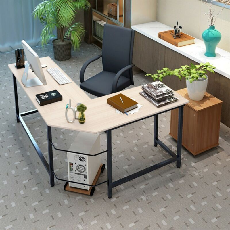 Gaming Desk Computer L Shaped Corner Desk Laptop Table Writi