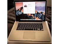 MacBook Pro (Retina, Mid 2015) 15 inch, 16 Gb Ram, 512 Gb SSD, 1536 Gb Intel Iris macOS Sierra