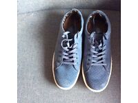 Ladies Cotton Traders blue suede casual shoes