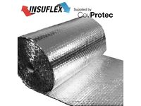 Reflective Foil Insulation Loft /Wall /Home /Shed/ Caravan Boat 37.5m2 0.75mx50m